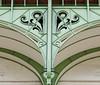 Support beam ornamentation - Grand Palais (Monceau) Tags: support beam ornamentation green arch grandpalais paris