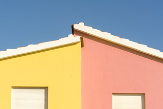 Yellow and pink house