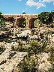 Santa Eularia, Ibiza. (CWhatPhotos) Tags: cwhatphotos old bridge roman cross crossing brick arch archways river sky skies blue photographs photograph pics pictures pic picture image images foto fotos photography artistic that have which contain olympus camera holiday holidays hols hol june 2018 ibizan ibiza santa eularia