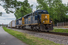 CSX A703 at Cartersville (travisnewman100) Tags: csx train railroad freight manifest road local yard cartersville wyvern north junta control point wa subdivision atlanta division a703 emd sd40e3 rebuild