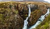 Godafoss in Tvera efri (Einar Schioth) Tags: river rocks rock water waterfall walley day sky summer canon clouds cloud cliff canyon vividstriking nationalgeographic ngc nature landscape photo picture outdoor iceland ísland eyjafjordur einarschioth
