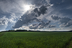 Countryside (ZeGaby) Tags: champagne clouds hdr landscape lumix lx15 marne naturephotography panasonic paysage sky fontainesuray grandest france fr
