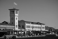 Central Station / Malmö (Images George Rex) Tags: 55c1694b991244d49115012739539298 clocktower malmo se photobygeorgerex imagesgeorgerex sweden architecture centralstation railwaystation bw blackandwhite busterminal transportinterchange sverige