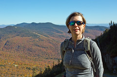 Miche and Smuggler's Notch, Stowe, Vermont (Miche & Jon Rousell) Tags: usa fall autumn vermont stowe mountmansfield smugglersnotch statepark leaves red yellow orange trees hiking trail skiing skiresort