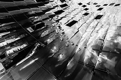 Vaughan Reflections #6 (Michael Muraz) Tags: 2017 bw blackwhite canada northamerica on ontario ttc toronto vaughan vaughanmetropolitancentre world architecture building monochrome reflection station subwaystation trainstation