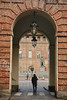 Porta - Door. (sinetempore) Tags: porta door torino turin street uomo man portici arcade piazzacastello