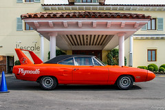 1970 Plymouth Road Runner Superbird (Rivitography) Tags: 1970 plymouth roadrunner superbird orange muscle car mopar gm american generalmotors classic antique old expensive greenwich connecticut 2018 canon rebel t3 adobe lightroom rivitography