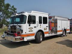 Homer, MI Fire Department (TrueWolverine87) Tags: apparatus fireapparatus firedepartment firetruck engine fireengine pumper homer michigan spartan metrostar spartanmetrostar crimson