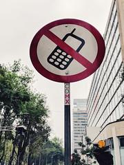 No phones (dpakisgood) Tags: pixel signs mexicocity mexico ciudaddemexico cdmx travel