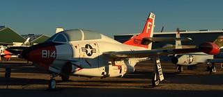 USN North American T-2C Buckeye jet trainer, c1968 - Pima Air & Space Museum, Tucson, Arizona