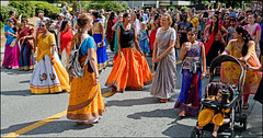Parade (HereInVancouver) Tags: parade vancouverswestend hindu krishna people urban outdoors city vancouver bc canada canong3x