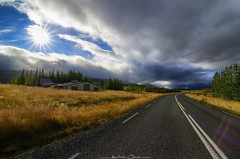 Take me to the storm .. (_Amritash_) Tags: takemetothestorm road roadtrip roadtripiniceland iceland icelandiclandscapes landscapes landscape clouds storm stormclouds weather sunburst fields beauty