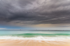 Grey Clouds and the Sea - a Morning at the Beach (Merrillie) Tags: daybreak wamberalbeach sand sunrise sea centralcoast nature water morning surf overcast wamberal weather newsouthwales waves earlymorning nsw australia beach ocean landscape waterscape sky coastal clouds outdoors seascape dawn coast cloudy seaside