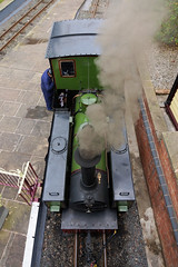 Alpha, down (gooey_lewy) Tags: statfold barn railway museum trust open day enthusiasts narrow gauge steam loco locomotive train engine rail photographic 2018 krauss munich 4045 1899 042st alpha1172060pt2 ft 610 mm2hudswell clarke 1922 ryam sugar company bihar roof top view bridge smoke chimney stack dome driver engineer