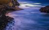 inlet bonfire (pbo31) Tags: bayarea california nikon d810 color june 2018 boury pbo31 over view sutrobaths pacific ocean bluehour westcoast coast earth nature water blue tide landsend motionblur rocks