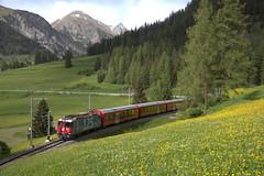 2018 | RhB Ge 4/4 II 623 te Bergün (Arno Verhagen) Tags: rhätischebahn ge44ii alvra