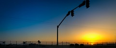 Streetside Sunset (World-viewer) Tags: silhouette trafficlights travel ngc casual streetphotography iphone8 iphone nice colours colors art artistic sunset highway sidewalk street berkeley california unitedstates us