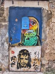 """""""24"""" (shadowplay) Tags: 24 wall painting graffiti palermo texture sicily mailbox"""