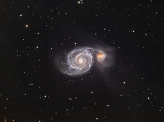 Whirlpool Galaxy (M51) in LRGB (Carballada) Tags: astrophotography astronomy deep space astro celestron zwo as1600mmc skywatcher ts sky qhy qhy5iii174 pixinsight galaxy galaxies astrophoto astrometrydotnet:id=nova2630877 astrometrydotnet:status=solved