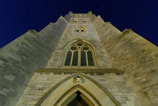 Floodlit Alverstoke Church in Blue Hour