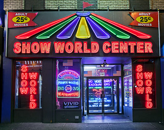 Show World Center was one of the last adult entertainment facilities in the Times Square area.
