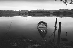 We'll have no sadness here until tomorrow (RuiFAFerreira) Tags: beauty bw black blackwhite wide white waterscape boat canon efs1018mmf4556isstm exterior light landscape mood nature portugal river shadow uwa