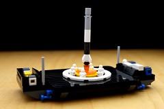 Falcon 9 & Drone Ship - LEGO Micro-scale (CurtQuarquesso) Tags: falcon9 spacex asds ocisly autonomousspaceportdroneship lego micro microscale mini space spaceflight aerospace legospace rocket barge landing booster nasa