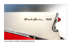 BelAir (Heiko Röbke) Tags: 2018 canon1635mmf28lisiii de canon5dmkiv color chevrolet heckflosse tailfin wheelsshow belair car hannover chevy forms technic automobile lightroom detail
