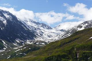 Swiss Alps panoramic view on Furka Passhöhe Switzerland