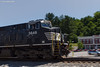 Friendly Wave (nrvtrains) Tags: christiansburgdistrict cambriast christiansburg cambria autoracks panning empty norfolksouthern 27v virginia unitedstates us