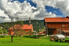 Alps. Bavaria. Germany. (rededia) Tags: architecture building church countryside sky cloud landscape travel germany nikon d850 hdr