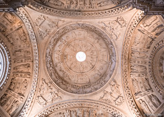 Dome (✦ Erdinc Ulas Photography ✦) Tags: sevilla seville city old ancient detail focus white statue people decorative dome spain spanish españa cathedral sacristy stone column light panasonic landmark circle architecture ceiling travel gothic catholic roman church unesco