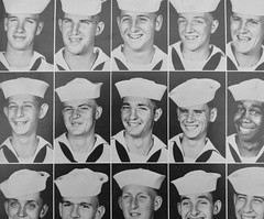 Happy Sailors (e r j k . a m e r j k a) Tags: navy sailors portrait smile grin happy yearbook greatlakes vintage 1958 erjk faces chicago illinois
