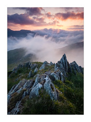 Rush (Dave Fieldhouse Photography) Tags: mountains mountain wales snowdonia rocks valley clouds sunrise dawn predawn cloudscape inversion cloudinversion glyderfach glyders wildcamp grass ogwen ogwenvalley epic portrait ridge fujifilm fujixt2 fuji wwwdavefieldhousephotographycom outdoors adventure glyderau gwynedd mist fog landscape landscapephotography mirrorless