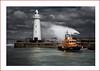 RNLB Saxon (Deek Wilson) Tags: donaghadee rnlb lifeboat rnlbsaxon lighthouse water tide wave storm darkclouds