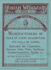 Josiah Wedgwood & Sons 1902 (sadiron16) Tags: wedgwood etruria stoke trent tiles