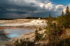 Norris Geyser Basin (59roadking - Jim Johnston) Tags: ifttt 500px yellowstone wyoming norris geyser basin national park forest storm clouds