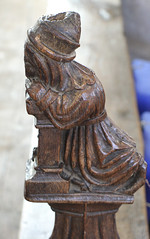Knelt in prayer (jpotto) Tags: uk suffolk blythburgh church religion pew poppyhead carving wood