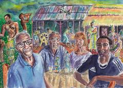Martinique:  chez Honoré (Jluc22fr) Tags: jluc painting watercolor travel travelbook martinique westindies antilles france caribean 2017 wip final