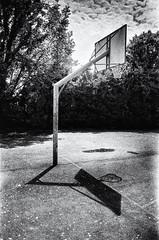 Backboard and its shadow (drugodragodiego) Tags: brescia lombardia italy blackandwhite blackwhite bw biancoenero shadow pentax pentaxmx mx filmcamera analog