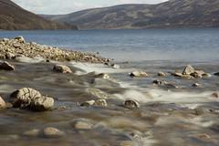 Glas Allt Meets Loch Muick (steve_whitmarsh) Tags: aberdeenshire scotland scottishhighlands loch lochmuick lake water stream waterfall rocks mountain hills moor abigfave