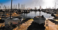 Cannes marina - 1998 (stevelamb007) Tags: france cannes marino boat sailboats water stevelamb 1998