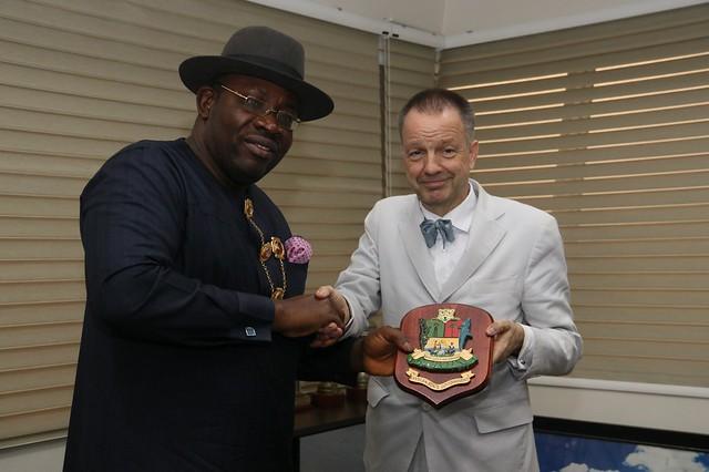 HSDickson - Courtesy Call by German Ambassador to Nigeria, Amb. Bernhard Schlagheck || Bayelsa. 20th Feb. 2018