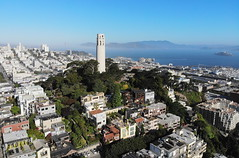 Coit Tower (A Sutanto) Tags: san francisco icon coit tower landmark aerial view drone shot telegraph hill bay area sf california ca usa america city skyline