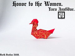 Honor to the Women Yara Anatidae - Barth Dunkan. (Magic Fingaz) Tags: anatra barthdunkan bebek canard eend ente kachna kaczka ördek origami origamiduck pato патица утка बत्तख เป็ด 오리 アヒル 鸭