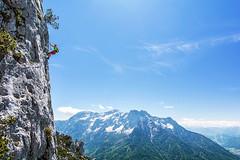 """The """"Trembling Knee"""" (Bergfex_Tirol) Tags: waidring bergfex oesterreich gipfel klettersteig viaferrata oostenrijk fixedroperoute nordtirol northtyrol mitterhorn lofer loferersteinberge summit autriche austria berg berge österreich alpen alps gebirge tirol landschaft tyrol mountains wand cliff felswand"""