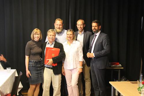Mitgliederversammlung des SPD-Ortsvereins Oldenburg-Stadtmitte/Nord mit Ulf Prange MdL, Minister Olaf Lies und der Unterbezirksvorsitzenden Nicole Piechotta.