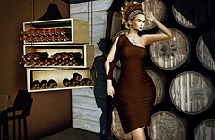 Last Time (kare Karas) Tags: woman lady femme girl girly elegant fierce diva indoors city wine colors hud mesh bento dress jewelry makeup virtual avatar secondlife game fun beauty pretty cute sensual seduce seductive ella event appliers zurirayna algesdesigns