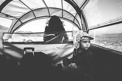B in Carriage (Diggoar) Tags: fujifilm xpro2 xf14mmf28 child carriage blackandwhite bw availablelight portrait