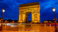 The Arch (The Happy Traveller) Tags: paris france archoftriumph nightscenery nightphotography europeancity europe